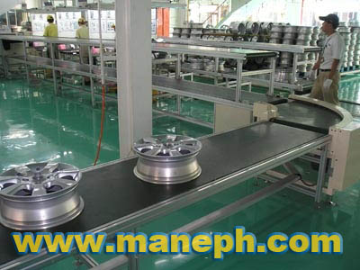 TIRE CURVE BELT CONVEYOR
